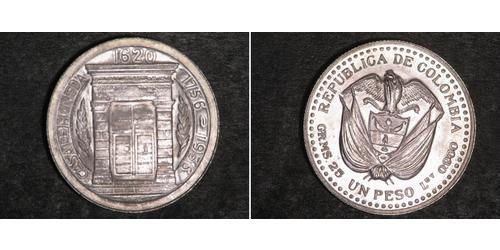 1 Peso Colombia Plata