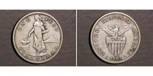 1 Peso Filipinas Plata