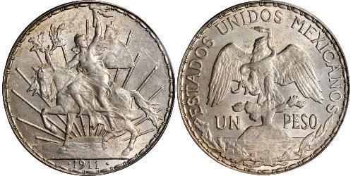 1 Peso México (1867 - ) Plata