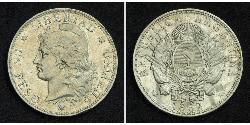 1 Peso República Argentina (1861 - ) Plata
