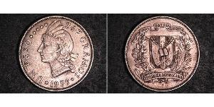 1 Peso Dominikanische Republik Silber
