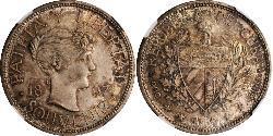 1 Peso Kuba Silber