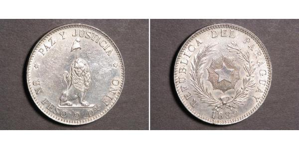 1 Peso Paraguay (1811 - ) Silber