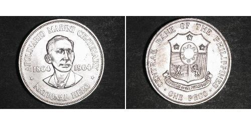 1 Peso Philippinen Silber