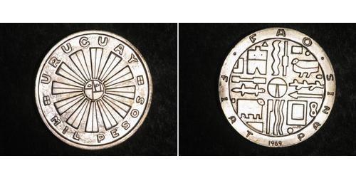 1 Peso Uruguay Silber
