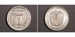 1 Peso Colombia Silver