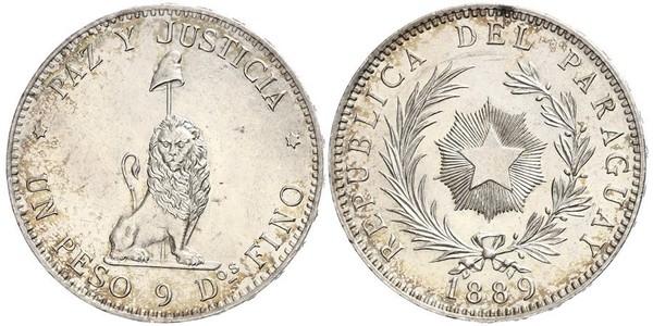 1 Peso Republic of Paraguay (1811 - ) Silver
