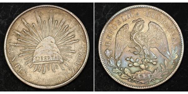 1 Peso United Mexican States (1867 - ) Silver