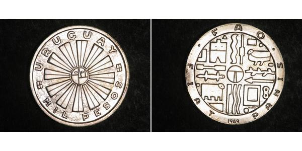 1 Peso Uruguay Silver