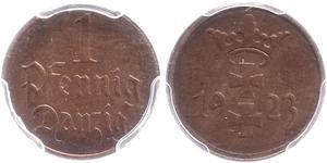 1 Pfennig 但澤自由市 (1920 - 1939) 青铜