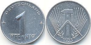 1 Pfennig Repubblica Democratica Tedesca (1949-1990) Alluminio