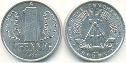 1 Pfennig Deutsche Demokratische Republik (1949-1990) Aluminium