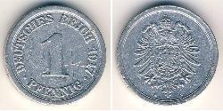 1 Pfennig Deutsches Kaiserreich (1871-1918) Aluminium
