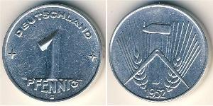 1 Pfennig German Democratic Republic (1949-1990) Aluminium