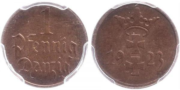 1 Pfennig Gdansk (1920-1939) Bronze