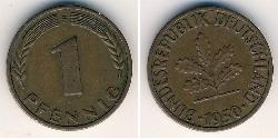 1 Pfennig West Germany (1949-1990) Bronze