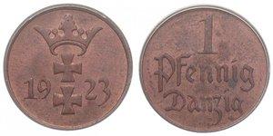 1 Pfennig Gdansk (1920-1939) Bronzo