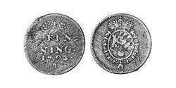 1 Pfennig Electorate of Bavaria (1623 - 1806) Cobre