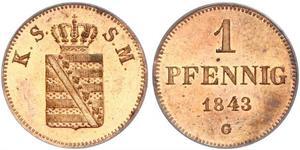 1 Pfennig States of Germany Cobre