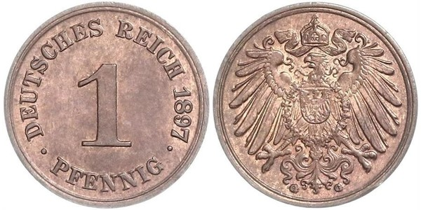 1 Pfennig Germany Copper