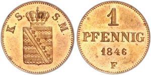 1 Pfennig States of Germany Copper