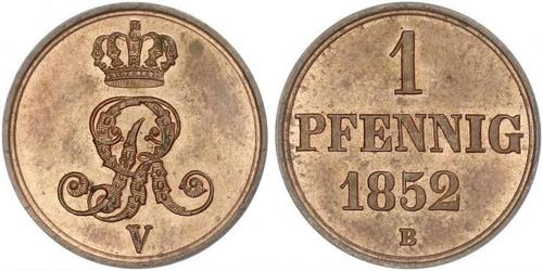 1 Pfennig States of Germany Copper