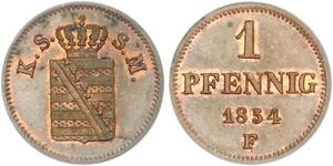 1 Pfennig States of Germany Cuivre