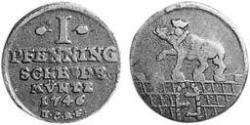 1 Pfennig Anhalt-Bernburg (1603 - 1863) Kupfer Viktor II. Friedrich (Anhalt-Bernburg)(1700 – 1765)
