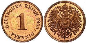 1 Pfennig Deutschland Kupfer