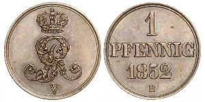 1 Pfennig States of Germany Kupfer