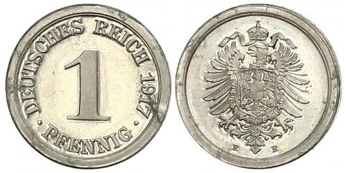 1 Pfennig 德意志帝國 (1871 - 1918) / 德国