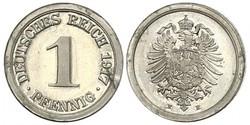 1 Pfennig Deutsches Kaiserreich (1871-1918) / Deutschland