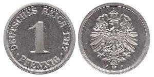 1 Pfennig Empire allemand (1871-1918) / Allemagne