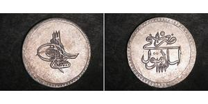 1 Piastre 奥斯曼帝国 (1299 - 1923) 銀 穆斯塔法三世 (1717 - 1774)