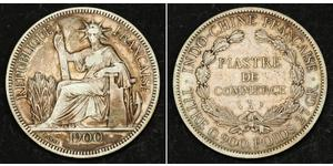 1 Piastre French Indochina (1887-1954) 銀