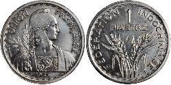 1 Piastre French Indochina (1887-1954) 銅/镍