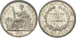 1 Piastre Indocina francese (1887-1954) Argento