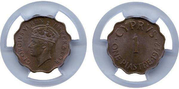 1 Piastre British Cyprus (1914–1960) Bronze George VI (1895-1952)