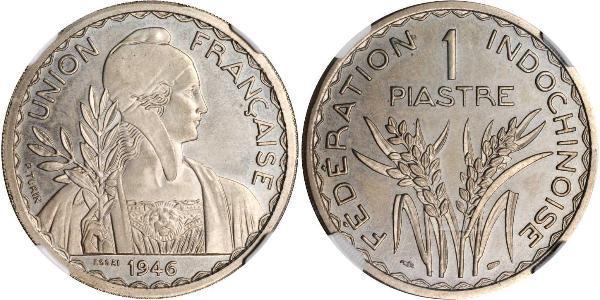 1 Piastre Indochine française (1887-1954) Cuivre/Nickel