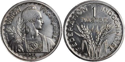 1 Piastre Indochina francesa (1887-1954) Níquel/Cobre