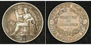 1 Piastre Indochina francesa (1887-1954) Plata