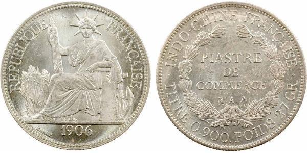 1 Piastre Französisch-Indochina (1887-1954) Silber