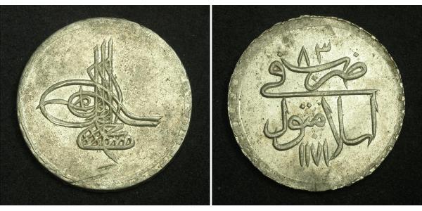 1 Piastre Ottoman Empire (1299-1923) Silver Mustafa III (1757 - 1774)