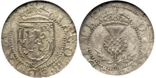 1 Plack Königreich Schottland (843-1707) Silber Jakob I (1566-1625)