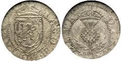 1 Plack Kingdom of Scotland (843-1707) Silver James I (1566-1625)