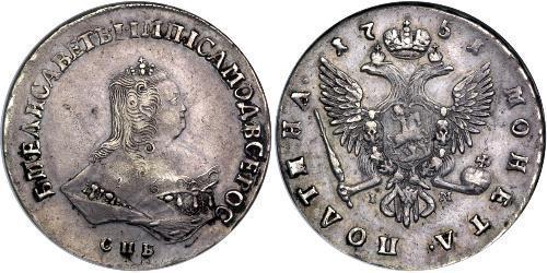 1 Poltina 俄罗斯帝国 (1721 - 1917) 銀 Jelisaweta I Petrowna (1709-1762)
