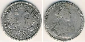 1 Poltina Impero russo (1720-1917) Argento Caterina I (1684-1727)