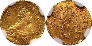 1 Poltina Imperio ruso (1720-1917) Oro Isabel I (1709-1762)