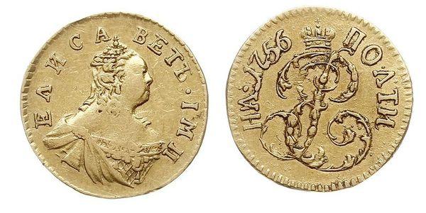 1 Poltina Impero russo (1720-1917) Oro Elisabetta I (1709-1762)