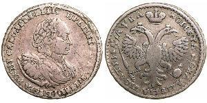 1 Poltina Russisches Reich (1720-1917) Silber Peter der Große(1672-1725)